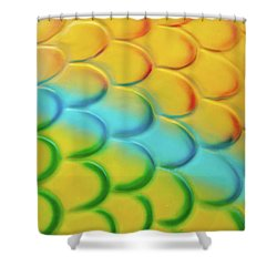 Colorful Scales Shower Curtain by Adam Romanowicz
