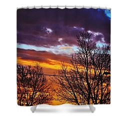 Colorful Skies Shower Curtain