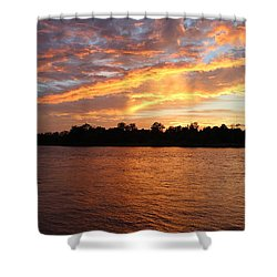 Shower Curtain featuring the photograph Colorful Sky At Sunset by Cynthia Guinn