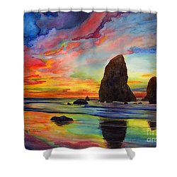 Colorful Solitude Shower Curtain