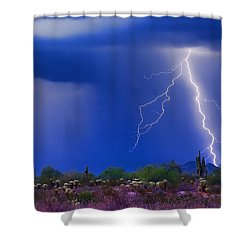 Colorful Sonoran Desert Storm Shower Curtain by James BO  Insogna