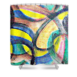 Shower Curtain featuring the mixed media Colorful Soul by Lucia Sirna