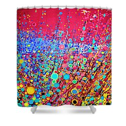 Shower Curtain featuring the digital art Colorful Spring by Maja Sokolowska