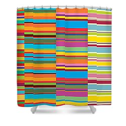 Colorful Stripes Shower Curtain by Ramneek Narang