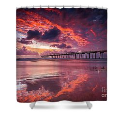 Colorful Sunrise Shower Curtain by Rod Jellison