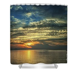 Colorful Sunset Shower Curtain by Michelle Meenawong
