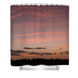 Colorful Sunset Over The Wetlands Shower Curtain