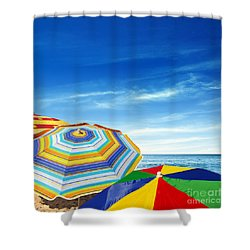 Colorful Sunshades Shower Curtain by Carlos Caetano