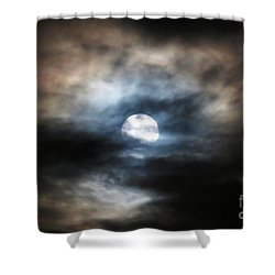 Colorful Super Moon Shower Curtain