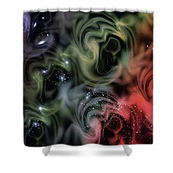 Colorful Swirls Shower Curtain