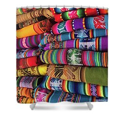 Colorful Tablecloths Shower Curtain