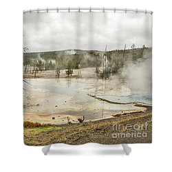 Shower Curtain featuring the photograph Colorful Thermal Pool by Sue Smith