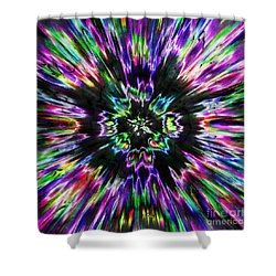 Colorful Tie Dye Abstract Shower Curtain