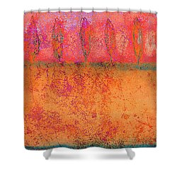 Colorful Tuscan Trees Shower Curtain
