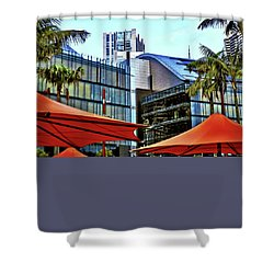 Shower Curtain featuring the photograph Colorful Umbrellas In Sydney by Kirsten Giving
