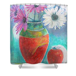 Colorful Vases And Flowers Shower Curtain