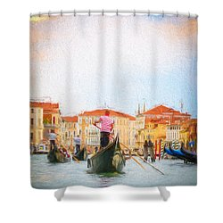 Colorful Venice Transportation Shower Curtain