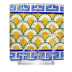 Colorful Vintage Portuguese Tiles Shower Curtain