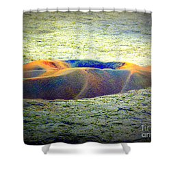 Colorful Volcanic Ash Shower Curtain
