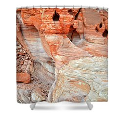 Shower Curtain featuring the photograph Colorful Wall Of Sandstone In Valley Of Fire by Ray Mathis