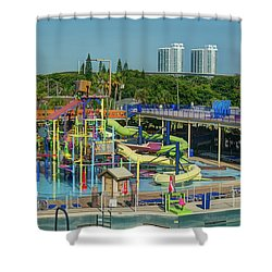 Colorful Water Park Shower Curtain