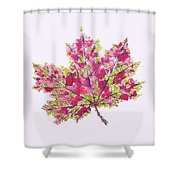 Colorful Watercolor Autumn Leaf Shower Curtain