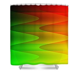Shower Curtain featuring the digital art Colorful Waves by Kathleen Sartoris