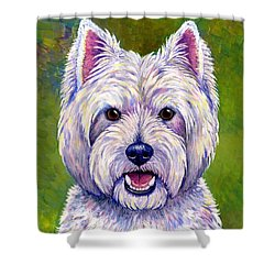 Colorful West Highland White Terrier Dog Shower Curtain