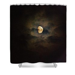 Shower Curtain featuring the photograph Colorfull Moon by Ramona Whiteaker