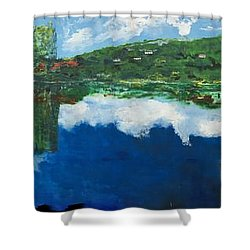 Coloring Holland V - Wall Four Shower Curtain by Belinda Low