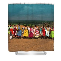 Shower Curtain featuring the photograph Colors And Faces Of The Masai Mara by Karen Lewis