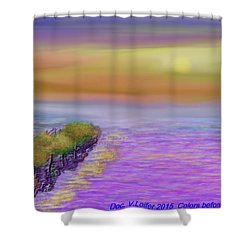 Colors Before Sunset Shower Curtain by Dr Loifer Vladimir