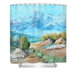 Colors In The High Desert Shower Curtain