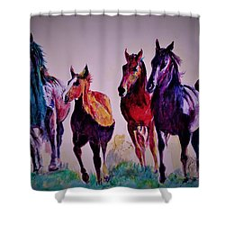 Colors In Wild Shower Curtain
