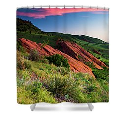 Shower Curtain featuring the photograph Colors Of A Colorado Spring Sunrise by John De Bord