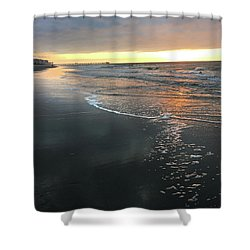 Colors Of A Storm At Sunrise Shower Curtain by Kelly Hazel