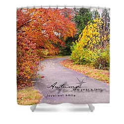 Shower Curtain featuring the photograph Colors Of Autumn by Mary Timman