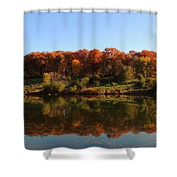 Shower Curtain featuring the photograph Colors Of Autumn by Teresa Schomig