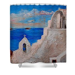 Colors Of Greece Shower Curtain