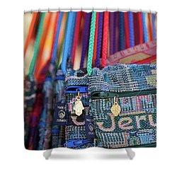 Colors Of Jerusalem Shower Curtain by Yoel Koskas