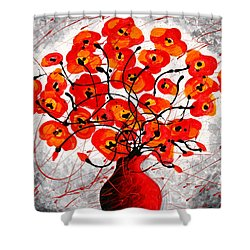 Colors Of Love Shower Curtain by Leon Zernitsky