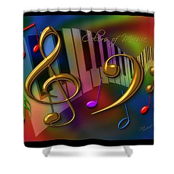 Colors Of Music Shower Curtain by Judi Quelland