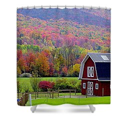 Colors Of New England Shower Curtain by Rick  Monyahan