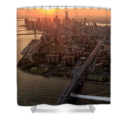 Shower Curtain featuring the photograph Colors Of Ny by Anthony Fields