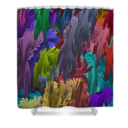 Colors Of Palette Water Colors Shower Curtain