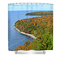 Shower Curtain featuring the photograph Colors Of Peninsula by Greta Larson Photography