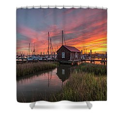 Colors Of Shem Creek - Mt. Pleasant Sc Shower Curtain