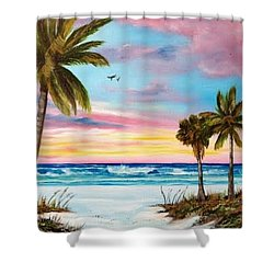 Colors Of Siesta Key Shower Curtain