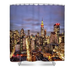 Colors Of The Night Shower Curtain by Evelina Kremsdorf