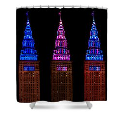 Colors Of The Terminal Tower Shower Curtain